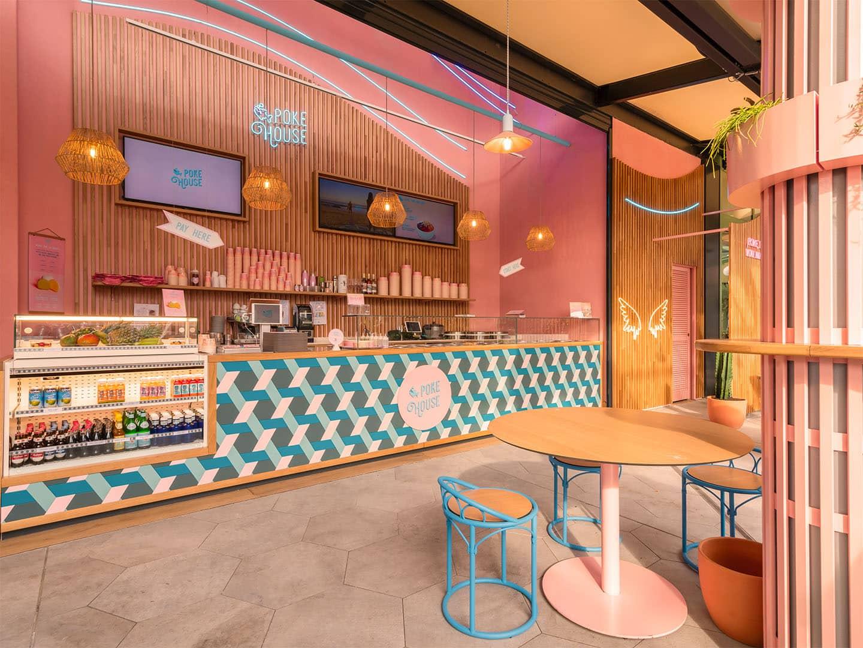 Inside Poke House La Maquinista