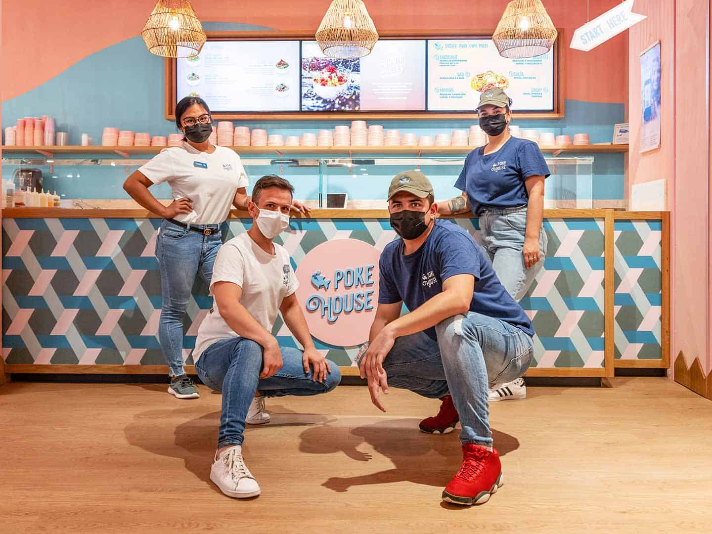 Poke House crew in Turin